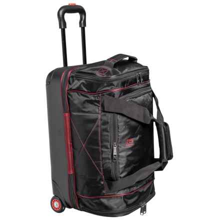 Ful FLX Mini Hybrid Rolling Duffel Bag in Black - Closeouts