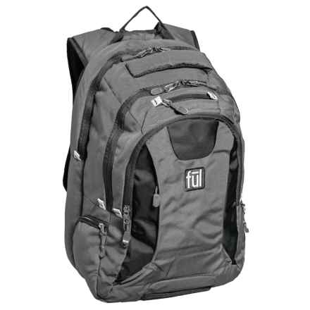 Ful Navigator Backpack in Grey/Black - Closeouts
