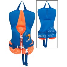 Full Throttle Flex-Back Neoprene Type III PFD Life Jacket (For Infants and Toddlers) in Blue/Orange Bubbles - Closeouts