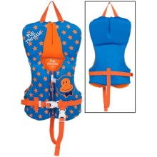 Full Throttle Flex-Back Neoprene Type III PFD Life Jacket (For Infants and Toddlers) in Blue Stars - Closeouts