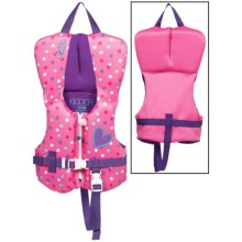 Full Throttle Flex-Back Neoprene Type III PFD Life Jacket (For Infants and Toddlers) in Pink Dots - Closeouts