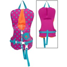 Full Throttle Flex-Back Neoprene Type III PFD Life Jacket (For Infants and Toddlers) in Purple Flower - Closeouts