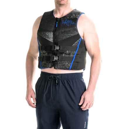 Full Throttle Hinged Flex-Back Neoprene Type III PFD Life Jacket (For Men) in Blue - Closeouts