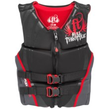 Full Throttle Hinged Flex-Back Neoprene Type III PFD Life Jacket (For Men) in Red - Closeouts