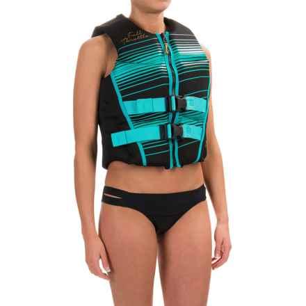 Full Throttle Hinged Flex-Back Neoprene Type III PFD Life Jacket (For Women) in Aqua - Closeouts