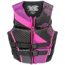 Full Throttle Hinged Flex-Back Neoprene Type III PFD Life Jacket (For Women) in Pink - Closeouts