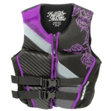 Full Throttle Hinged Flex-Back Neoprene Type III PFD Life Jacket (For Women) in Purple - Closeouts
