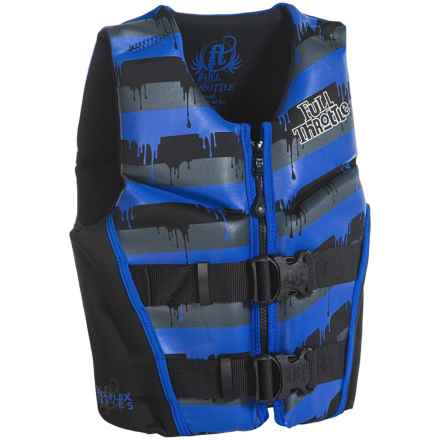 Full Throttle Hinged Flexback Type III PFD Life Jacket (For Big Kids) in Blue - Closeouts