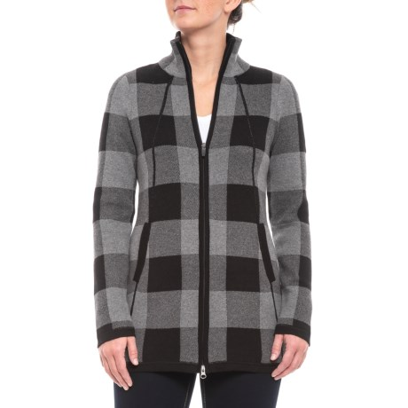 Image of Full-Zip Cardigan Sweater - Mock Neck (For Women)