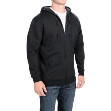Full-Zip Fleece Hoodie (For Men) in Black - Closeouts