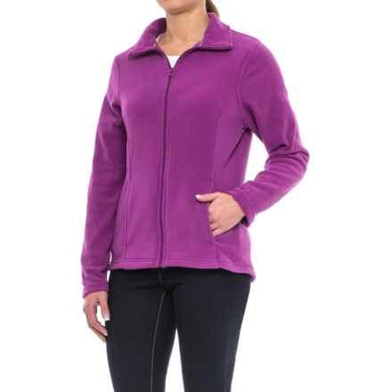 Full-Zip Fleece Jacket (For Women) in Fuchsia - 2nds