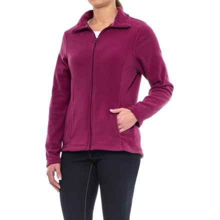 Full-Zip Fleece Jacket (For Women) in Garnet - 2nds