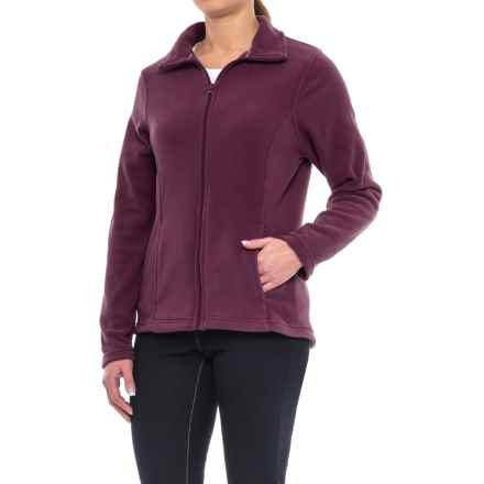 Full-Zip Fleece Jacket (For Women) in Maroon - 2nds
