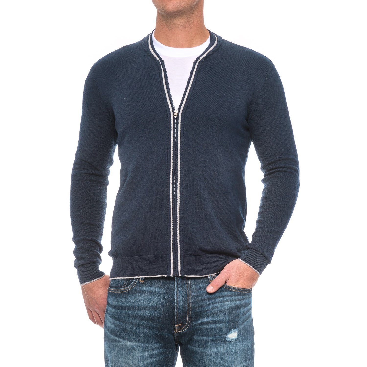 Full-Zip Sweater (For Men) - Save 66%
