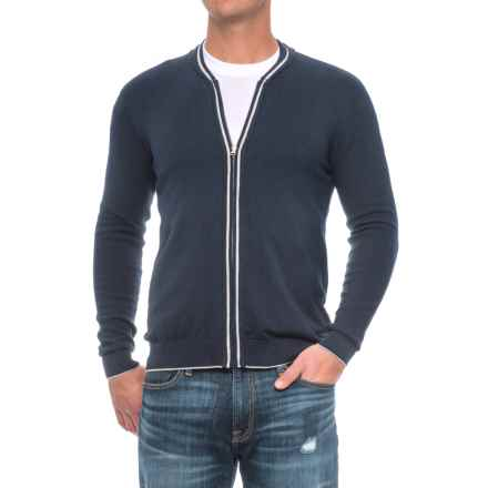 Full-Zip Sweater (For Men) in Dark Blue - Closeouts