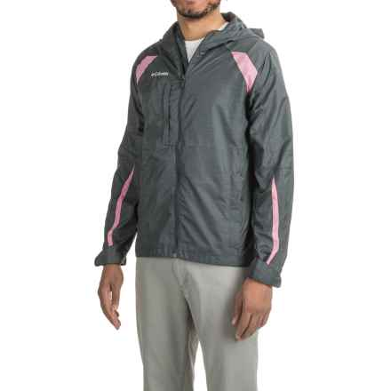 Full-Zip Windbreaker (For Men) in Dark Grey/Pink - 2nds
