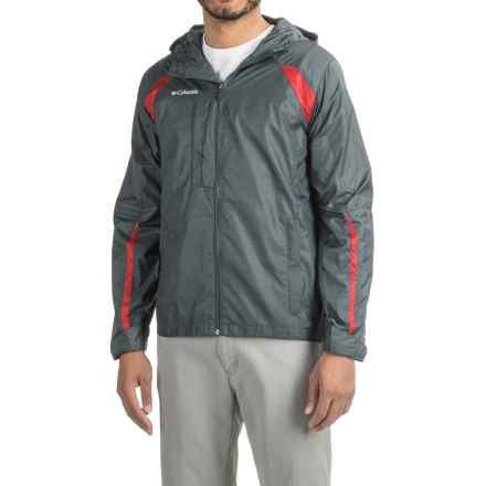 Full-Zip Windbreaker (For Men) in Dark Grey/Red - 2nds