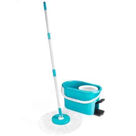 Fuller Brush Company Fiesta Spin Mop Set in Blue - Overstock