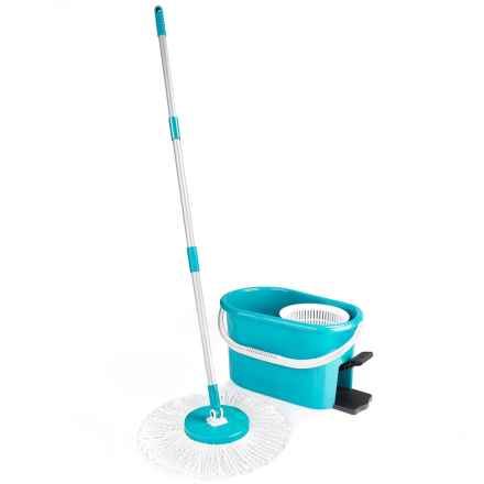 Fuller Brush Fiesta Spin Mop Set in Blue - Overstock