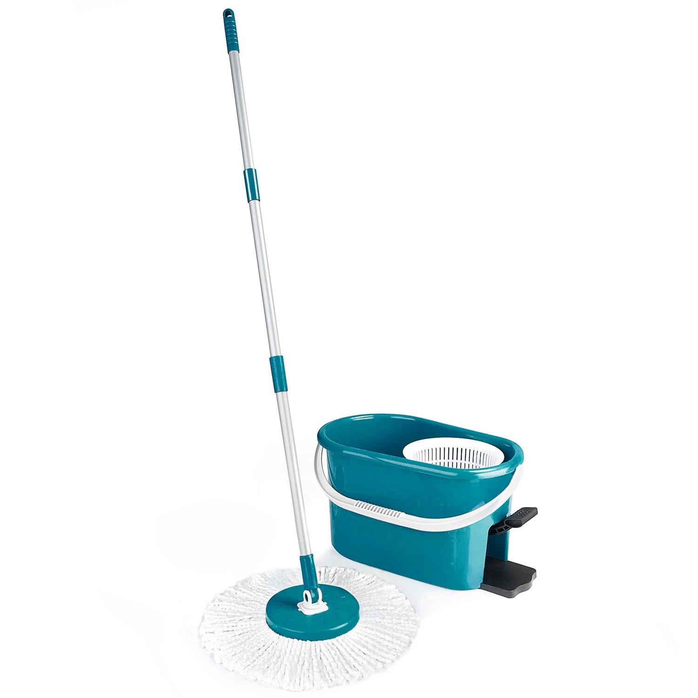 Fuller Brush Fiesta Spin Mop Set In Dark Blue