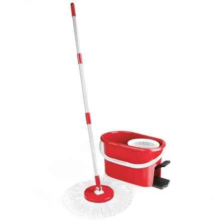 Fuller Brush Fiesta Spin Mop Set in Red - Overstock
