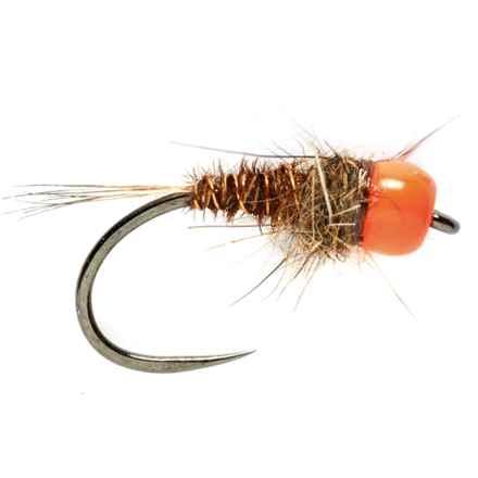 Fulling Mill Mary Tungsten Beadhead Barbless Nymph Fly - Dozen in Orange Head - Closeouts