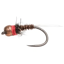 Fulling Mill Red Neck Tungsten Barbless Beadhead Nymph Fly - Dozen in See Photo - Closeouts
