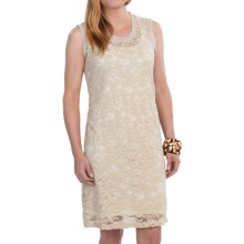 Fully Lined Lace Dress - Sleeveless (For Women) in Dove - 2nds