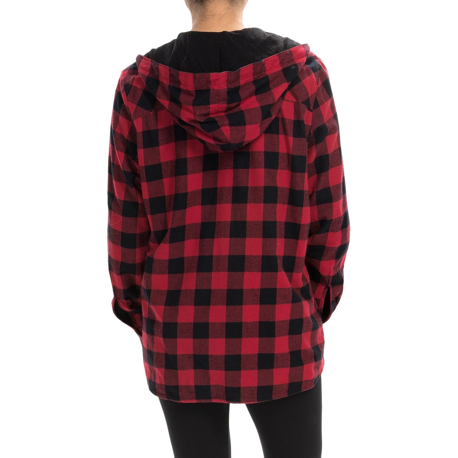 Flannel lined hoodie