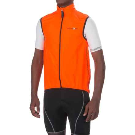 Funkier Active Wind Cycling Vest - UPF 50+ (For Men) in Orange - Closeouts