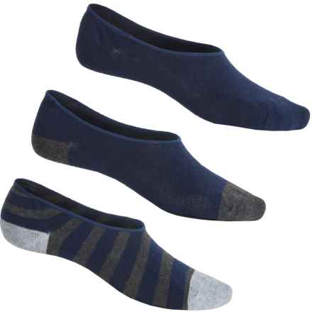Funky Socks No-Show Liner Socks - 3-Pack, Below the Ankle (For Men) in Charcoal Heather - Closeouts