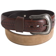 G Bar D Crazy Horse Belt - Leather (For Men) in Brown/Contrast - Closeouts