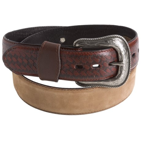 G Bar D Crazy Horse Belt - Leather (For Men) in Brown/Contrast