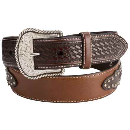 G Bar D Fancy Leather Belt (For Men) in Brown - Closeouts