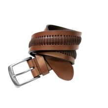 G Bar D Laced Leather Belt (For Men) in Brown - Closeouts