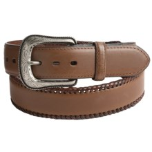 G Bar D Leather Laced Belt (For Men) in Brown - Closeouts