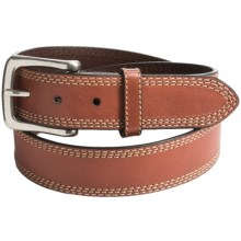 G Bar D Milled Leather Belt (For Men) in Brown - Closeouts