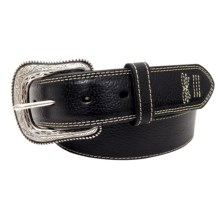 G Bar D Pebbled Leather Belt (For Men) in Black - Closeouts