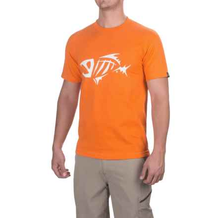 G. Loomis Corpo T-Shirt - Short Sleeve (For Men and Big Men) in Orange/White - Closeouts