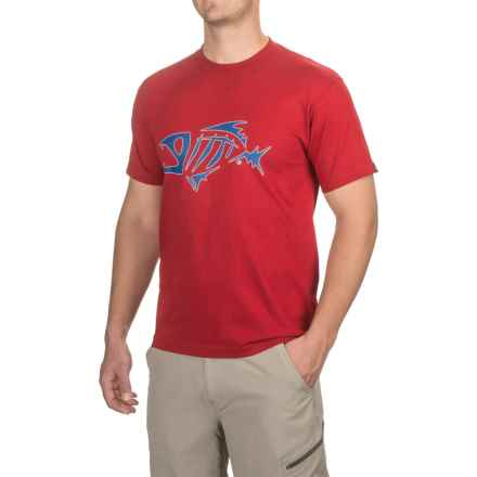 G. Loomis Corpo T-Shirt - Short Sleeve (For Men and Big Men) in Red/Navy - Closeouts