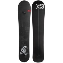 G3 Black Sheep Carbon Splitboard Snowboard in Cloudy Day/Green W/Black - 2nds