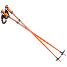 G3 Fixie Aluminum Backcountry Ski Poles - 110cm, Fixed Length, Pair in Orange - Closeouts