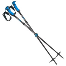 G3 Via Carbon Backcountry Ski Poles - 95cm, Adjustable, Pair in Blue - Closeouts