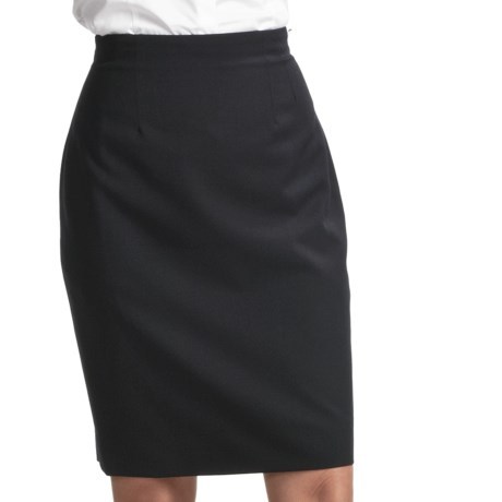 Gabriella Molinari Short Skirt - Worsted Wool (For Petite Women) in Navy