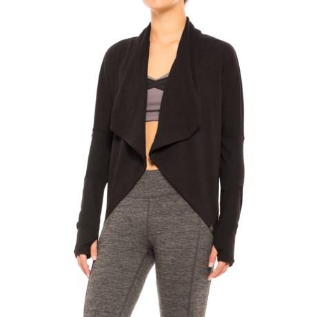 Gaiam Calla Shirt Wrap - Long Sleeve (For Women) in Black (Tap Shoe)