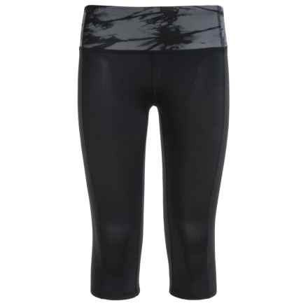 Gaiam Chi Balance Solid Capris (For Big Girls) in Black - Closeouts