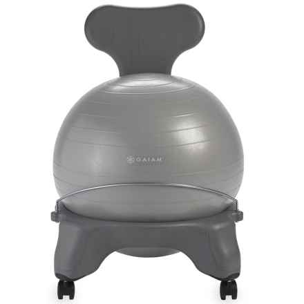 Gaiam Classic Balance Ball Chair in Cool Grey - Closeouts