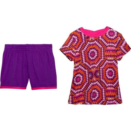 4f9da071 Gaiam Crisscross T-Shirt and Shorts Set - Short Sleeve (For Little Girls)