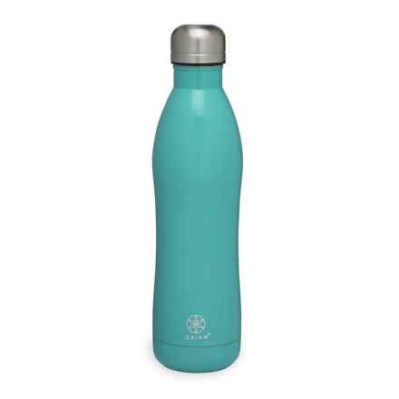 Gaiam Easy Grip Stainless Steel Water Bottle - 17 fl.oz., BPA-Free in Viridian Solid - Closeouts