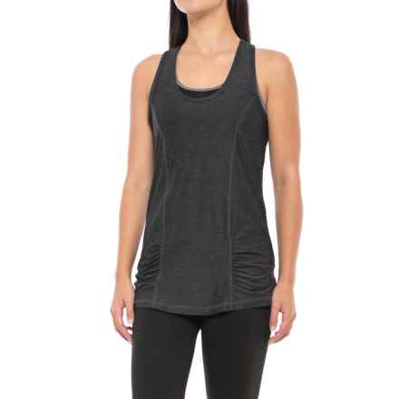 Gaiam Energy Tank Top - Racerback (For Women) in Black Heather - Closeouts